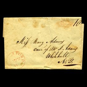 1840s Waterford Ct Stampless Cover Scarce