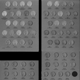 1913-1938 Full Set Of Buffalo Nickels Ag Or Better Cond