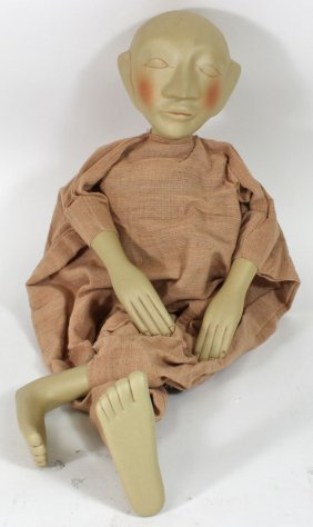 Hand Crafted Porcelain Puppet Doll