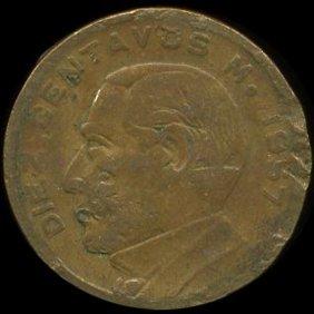 1957 Mexico 10c Vf Error