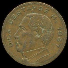 1967 Mexico 10c Vf Error