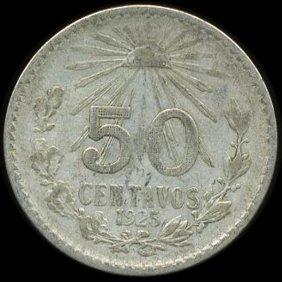 1925 Mexico 50c Vf+ Scarce