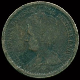 1925 Netherlands 25c Silver