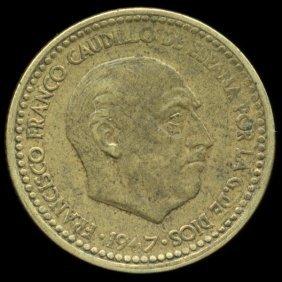1953 Spain 1p Xf+ Scarce