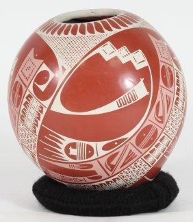 Unique New Mata Ortiz Fired Clay Vessel