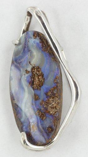 77.6twc Australia Boulder Opal Sterling Pendant