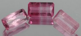 2.6ct Pink Tourmaline Emerald Cut Parcel