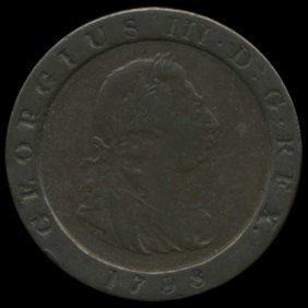1798 Great Britain George 3 Farthing Pattern Xf