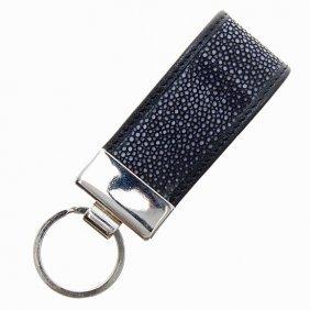 Black Stingray Hide Key Chains