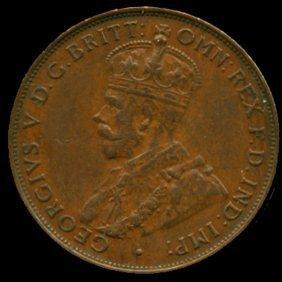 1933m Australia Large Penny Hi Grade Au55 Bv $80