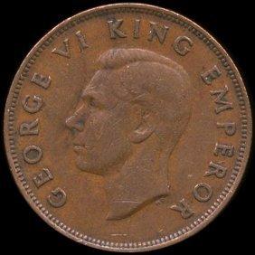 1942 New Zealand 1p Au/xf