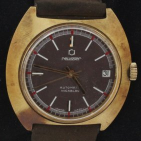 Vintage Men's Reusser Deco Watch