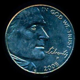 2005 Jefferson Bison 5c Ms66+ Hi Book Value