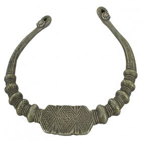 Antique Hand Forged Heavy Silver Hilltribe Choker