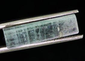 10.65ct Pale Pink/green Tourmaline Crystal Cut