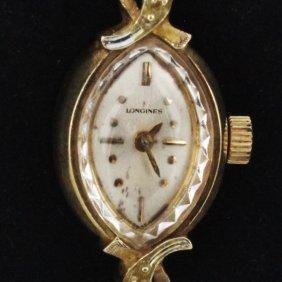 Vintage Ladies Longines 14k Diamond Watch