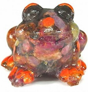 430.00ct Premium Natural Red Ruby Frog Statue