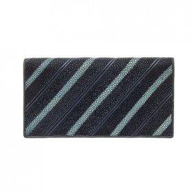 Stingray Hide Checkbook Unisex Wallet