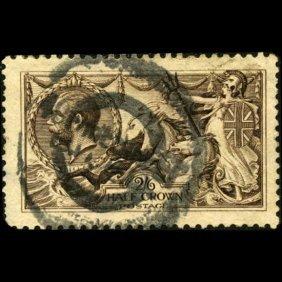 1913 Britain George Vi 1/2 Crown Seahorses