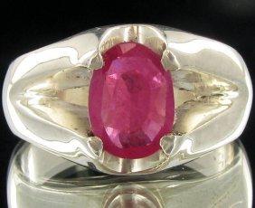 43.1twc Madagascar Ruby Sterling Ring