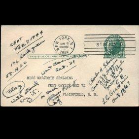 1944 Us Scott Stamp Reply Postal Card