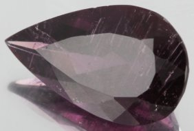 3.6ct Rubellite Tourmaline Pear Cut