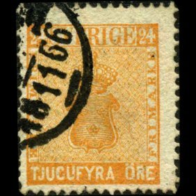 1861 Sweden 24o Stamp