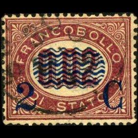 1878 Scarce Italy 2c Overprint Stamp