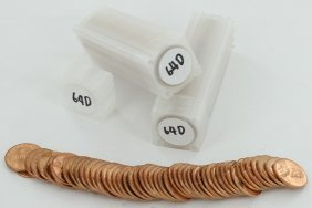 1964d Unsearched Estate Hoard Bu 1c 3 Rolls Of 50