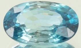8.57ct Huge Blue Zircon Untreated