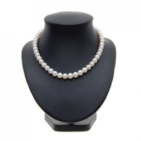 Scarce White Saltwater Pearl Necklace