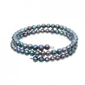 Saltwater Small Black Pearl Bracelet