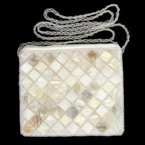 Handcrafted Mother Of Pearl Evening Bag