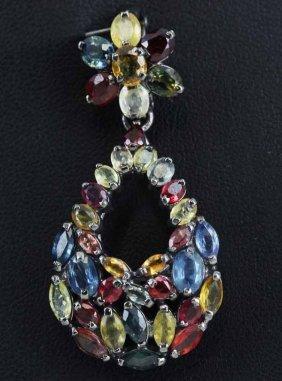25.5twc 3 Color Sapphire Pendant