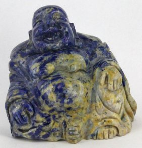 1915ct Handcarved Lapis Happy Buddha