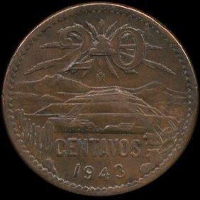 1943 Mexico 20c Au+