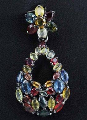 40twc 3 Color Sapphire Pendant