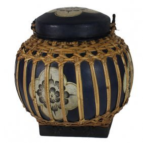 Hand Decorated Rice Container
