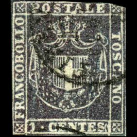 1860 Tuscany 1c Stamp