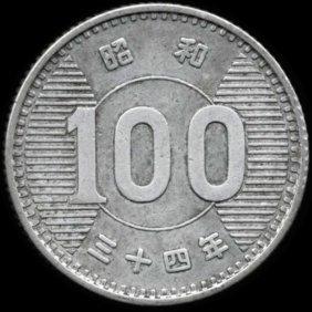 1959 Japan 100 Yen Hi Grade Au