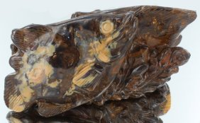 2230ct Natural Boulder Opal Carved Fish