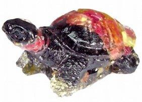 300ct. Turtle Figure Statue Fancy Sapphire