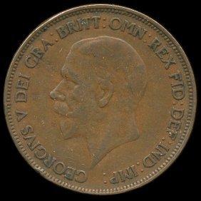 1929 British Geo V 1p Xf/vf