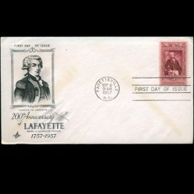 1957 Us First Day Postal Cover