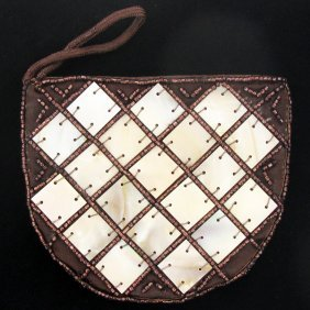 Mother Of Pearl Shell Makeup Bag