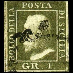 1859 Sicily 1gr Stamp
