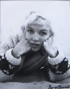 Marilyn Monroe Photograph, 1962, Signed By George Ba