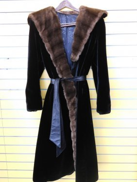 Vintage Ladies' Faux Fur Coat By Borgazia