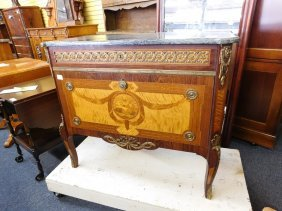 Antique French Chest With Marble Top