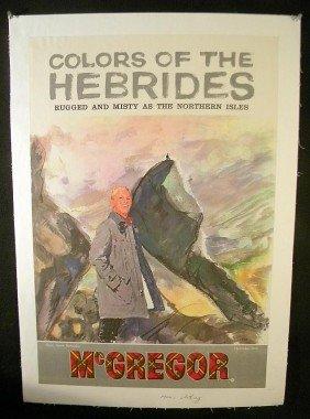 VINTAGE POSTER- McGREGOR MEN'S CLOTHING CIRCA 1953 M
